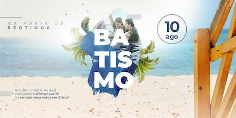 Batismo na Praia de Itaguaré ingressos