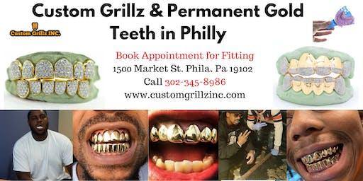 Custom Grillz & Permanent Gold Teeth Fittings in Philadelphia