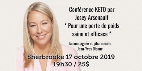 SHERBROOKE - Conférence - KETO Pour une perte de poids saine et efficace! tickets