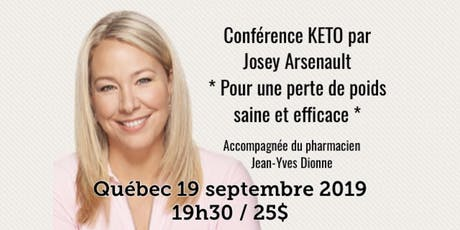 QUÉBEC - Conférence - KETO Pour une perte de poids saine et efficace! billets