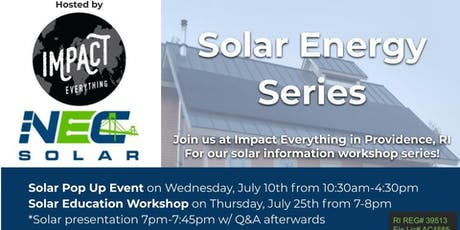 NEC Solar Energy Series tickets