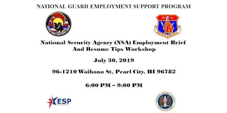 National Security Agency Employment Brief and Resume Tips Workshop tickets