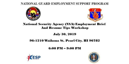 National Security Agency Employment Brief and Resume Tips Workshop
