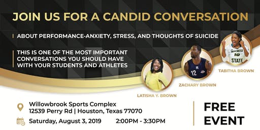 CANDID CONVERSATION ABOUT PERFORMANCE-ANXIETY, STRESS & THOUGHTS OF SUICIDE