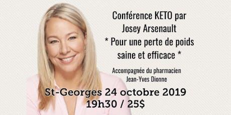 ST-GEORGES - Conférence - KETO Pour une perte de poids saine et efficace! tickets