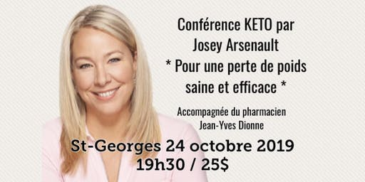 ST-GEORGES - Conférence - KETO Pour une perte de poids saine et efficace!