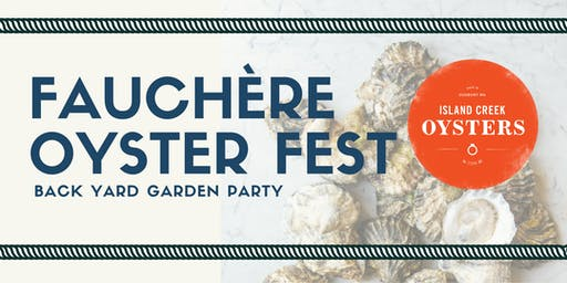 Fauchère Oyster Fest in the Garden
