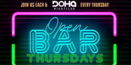 Open Bar THURSDAYS , Drink Specials, $20 Hookah, $100 Bottle Specials tickets