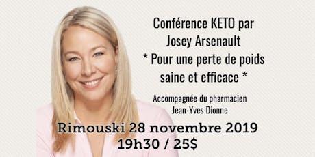 RIMOUSKI - Conférence - KETO Pour une perte de poids saine et efficace... billets
