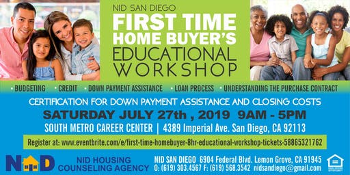 FIRST TIME HOMEBUYER 8HR EDUCATIONAL WORKSHOP!!!!