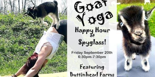 Goat Yoga Happy Hour at Spyglass Ridge Winery