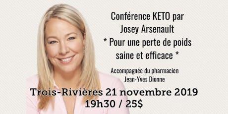 TROIS-RIVIÈRES - Conférence - KETO Pour une perte de poids saine et efficace... billets