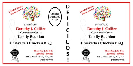 Dorothy J. Collier Center- Chiavetta's BBQ Chicken Dinner Fundraiser tickets