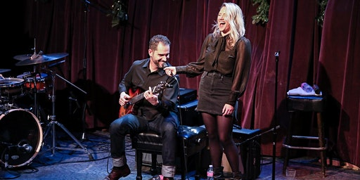Charlie Hunter & Lucy Woodward with drummer Doug Belote