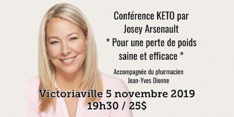 VICTORIAVILLE - Conférence - KETO Pour une perte de poids saine et efficace! billets