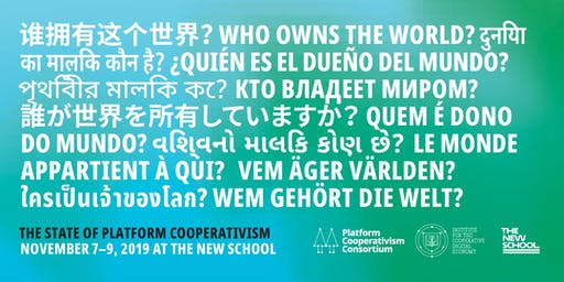 Who Owns The World? The State of Platform Cooperativism