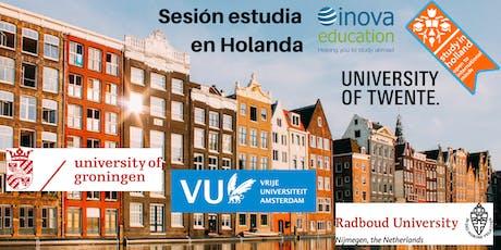 Estudia en Holanda - sesión informativa, también en línea tickets