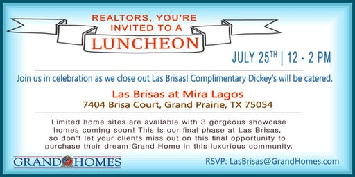 Realtor Lunch at Las Brisas at Mira Lagos