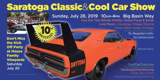 Saratoga Classic & Cool Car Show 10th Anniversary Show