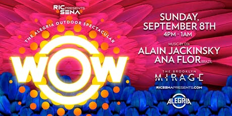 WOW - The Alegria Outdoor Spectacular tickets