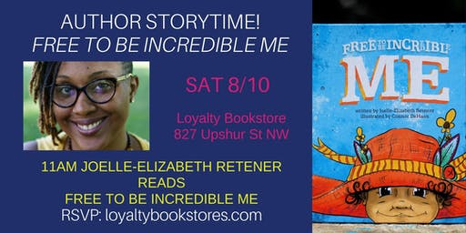 Storytime featuring Joelle-Elizabeth Retener for Free to be Incredible Me