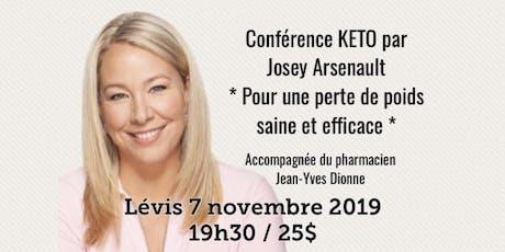 LÉVIS - Conférence - KETO Pour une perte de poids saine et efficace... billets