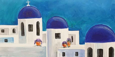 Santorini Skyline Brush and Tipple 15 Aug tickets