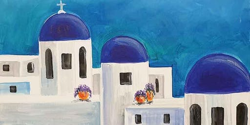 Santorini Skyline Brush and Tipple 15 Aug