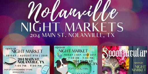Nolanville Night Market - Vendor Sign Up