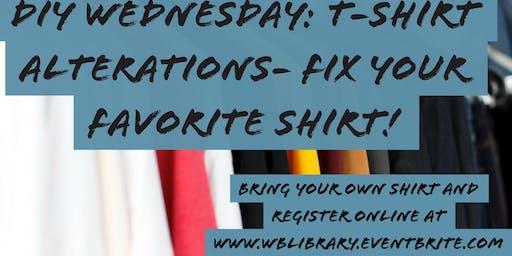DIY Wednesdays: T-Shirt Alterations