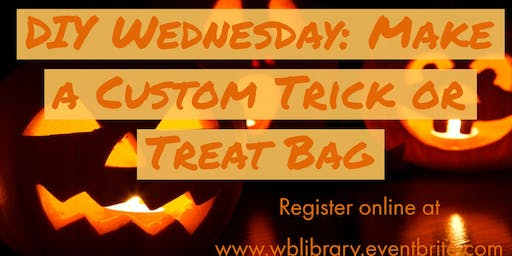 DIY Wednesdays: Customized Trick-or-Treat Bags