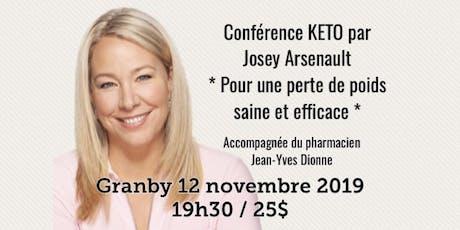 GRANBY - Conférence - KETO Pour une perte de poids saine et efficace... tickets