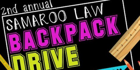 Samaroo Law Backpack Drive & Giveaway tickets