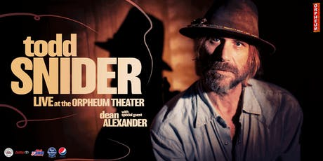 Todd Snider with special guest Dean Alexander tickets