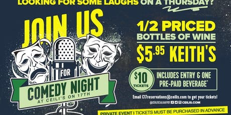 Comedy Night at Ceilis on 17th  tickets