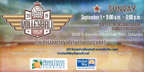 2019 Indoor COED Volleyball Tournament for Heart of Florida United Way tickets