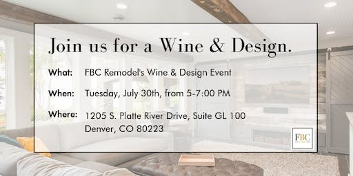 Wine and Design with FBC Remodel