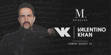 Valentino Khan at Mémoire tickets