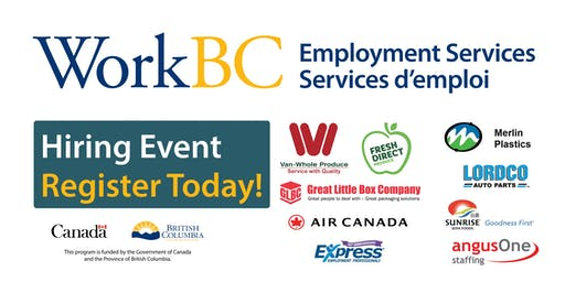 Vancouver North East WorkBC Job Fair - Careers in the Warehouse, Production and Aviation