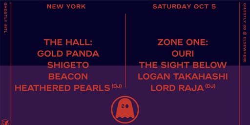 Ghostly 20 (Early) w/ Gold Panda, Shigeto, Beacon, Heathered Pearls (DJ),  Ouri, The Sight Below, Logan Takahashi, Lord RAJA (DJ), Starchild & The New Romantic (DJ) @ Elsewhere
