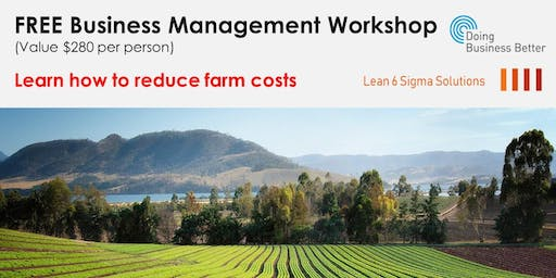 How to reduce Farm Costs by 20% (free workshop) – Werribee