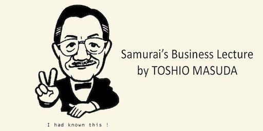 THE SAMURAI'S BUSINESS LECTURE IN MONACO BY TOSHIO MASUDA