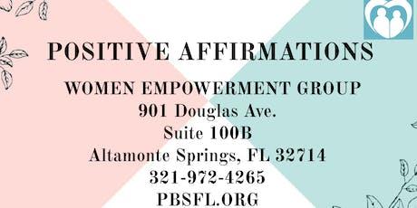POSITIVE AFFIRMATIONS: Women Empowerment Group tickets