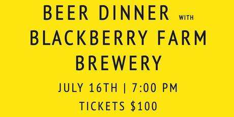 Blackberry Farm Brewery Beer Dinner tickets