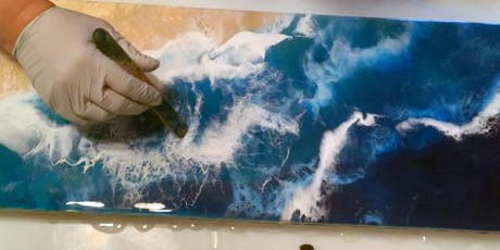 Ocean Waves Resin Painting Class tickets
