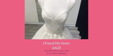 I Found My Gown Sale! tickets