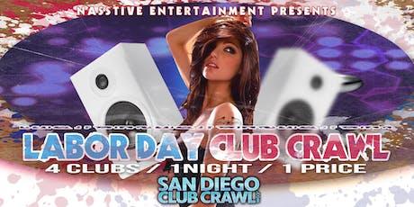SAN DIEGO LABOR DAY SUNDAY BAR and CLUB CRAWL tickets