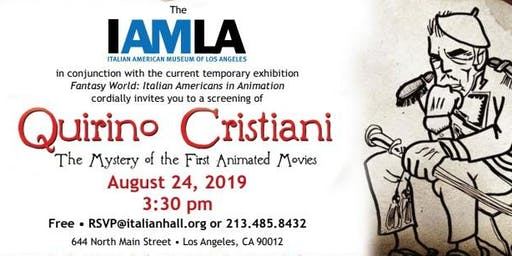 Quirino Cristiani:  the Mystery of the First Animated Movies