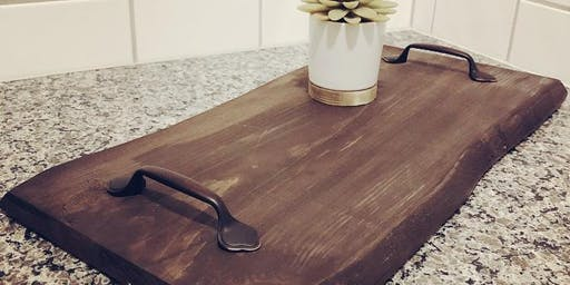 DIY Live Edge Wood Tray