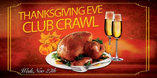 San Diego Thanksgiving Eve Bar and Club Crawl